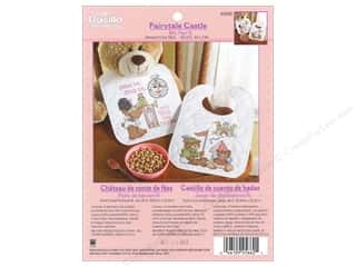Weekly Specials Bucilla Beginner Cross Stitch Kit: Bucilla Xstitch Kit Bib Pair Fairytale Castle