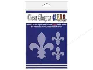 Clear Scraps Shapes Fleur De Lis 3pc