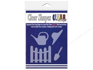 Clear Scraps $3 - $4: Clear Scraps Clear Shapes 4 pc. Garden