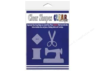 Clear Scraps Shapes Sewing 4pc