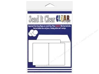 Paper Pieces Clear: Clear Scraps Send It Clear Card Regular