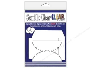 Weekly Specials Inkadinkado Stamping Gear: Clear Scraps Send It Clear Card Scallop