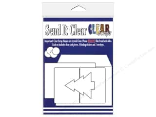 Unique Clear: Clear Scraps Send It Clear Card Christmas Tree