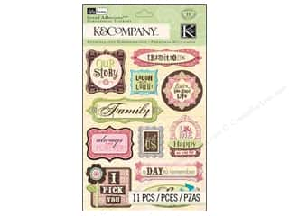 phrase stickers: K&Company Grand Adhesions Kelly Panacci Blossom Phrases