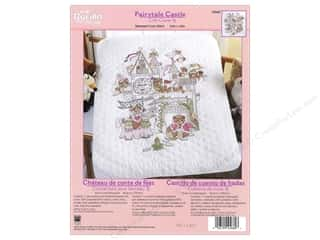 Weekly Specials Bucilla Beginner Cross Stitch Kit: Bucilla Xstitch Kit Crib Cover Fairytale Castle