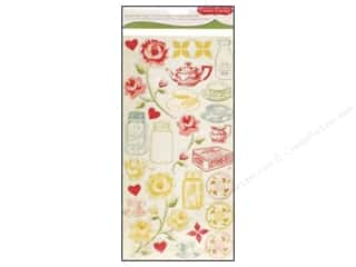 Bottles Hearts: Cosmo Cricket Sticker Ready Set Chip Tea For Two