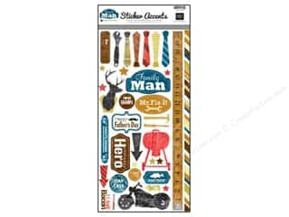 "Echo Park Sticker 6""x 12"" Family Man (15 set)"