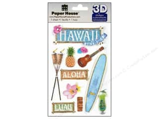 3D Stickers: Paper House Sticker 3D Hawaii