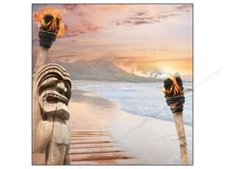 Paper House Paper 12x12 Hawaii Tiki At Sunset (25 piece)