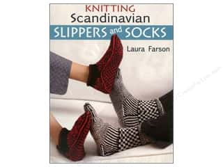 knitting books: That Patchwork Place Knitting Scandinavian Slippers and Socks Book by Laura Farson