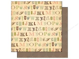 Cosmo Cricket Cardstock 12&quot;x 12&quot; Evangeline Calligraphy (12 piece)