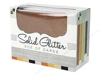 DieCuts Box of Cards A2 35pc Natural Solid Glitter
