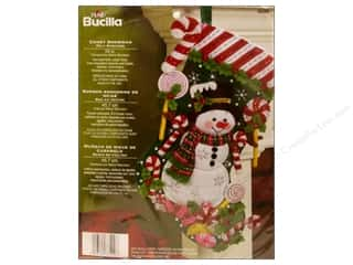 Bucilla Felt Kits Candy Snowman Stocking 18&quot;
