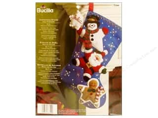 Holiday Sale Bucilla Christmas Felt Kits: Bucilla Felt Kits Christmas Stars Stocking 18&quot;
