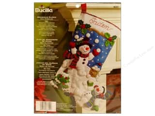 Bucilla Felt Kits Snowman Games Stocking 18&quot;