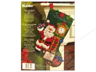 Holiday Sale Bucilla Christmas Felt Kits: Bucilla Felt Kits Twas The Night Stocking 18&quot;