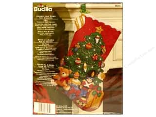 Holiday Sale Bucilla Christmas Felt Kits: Bucilla Felt Kits  Under The Tree Stocking 18&quot;