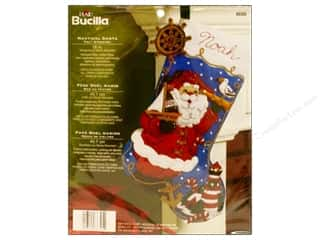 Bucilla Felt Kits Nautical Santa Stocking 18&quot;