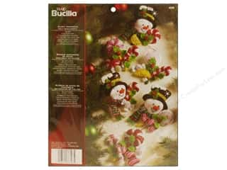 Bucilla Felt Kits Candy Snowman Ornaments