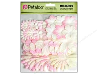 Scrapbooking & Paper Crafts: Petaloo Mulberry Value Pack Assorted Blush 36pc