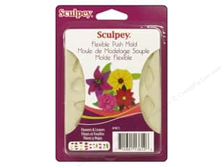 Kid Crafts Flowers: Sculpey Flexible Push Mold Flower & Leaves (2 sets)