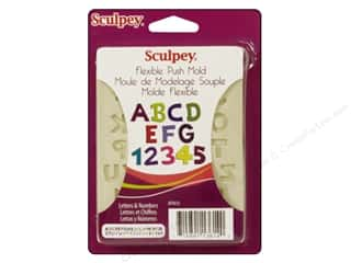Sculpey Flexible Push Molds: Sculpey Flexible Push Mold Letter & Numbers (2 set)