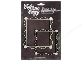 Petaloo Chipboard Embellishments: Petaloo Color Me Crazy Chipboard Frame Deco 2pc