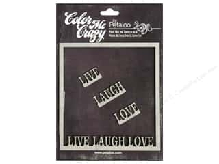 Petaloo Chipboard Embellishments: Petaloo Color Me Crazy Chipboard Frame Live Laugh
