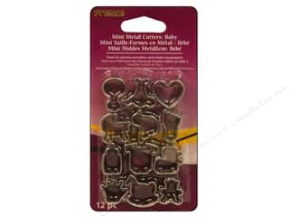 Bottles Hearts: Premo! Sculpey Mini Metal Cutters 12 pc. Baby