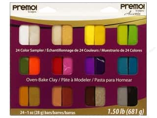 Premo Polymer Clay Polyform Sampler Pack 24pc