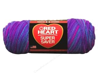 Red Heart Super Saver Yarn #3931 Grape Fizz 5 oz.