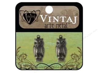Vintaj Charm Perching Owl Arte Metal 2pc