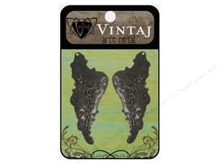 Vintaj Charm Mythical Wings Arte Metal 2pc