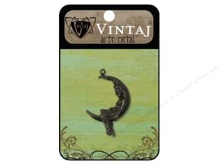 Charms Black: Vintaj Charm Moon Maiden Arte Metal