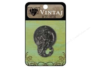 Charms Black: Vintaj Charm Harvest Maiden Arte Metal