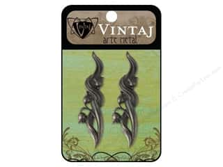 Charms Black: Vintaj Charm Lily of The Valley Arte Metal 2pc