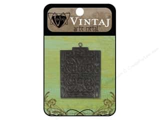 Charms Black: Vintaj Charm Etruscan Antiquity Arte Metal