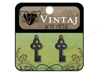 Vintaj Charm Key Bric-A-Brac Arte Metal 2pc