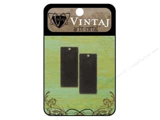 Vintaj Blanks Rectangle 32mm Arte Metal 2pc