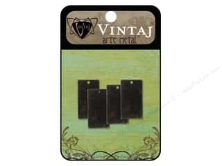 Vintaj Blanks Rectangle 22mm Arte Metal 4pc