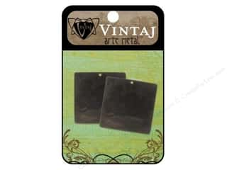 Vintaj Blanks Square 29mm Arte Metal 2pc