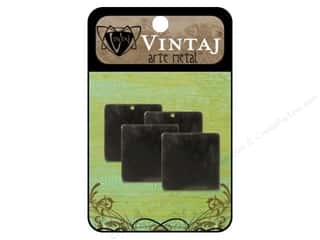 Vintaj Blanks Square 23mm Arte Metal 4pc