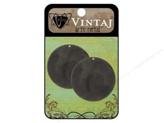 Vintaj Blanks Circle 34mm Arte Metal 2pc