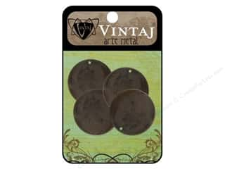 Vintaj Blanks Circle 25mm Arte Metal 4pc