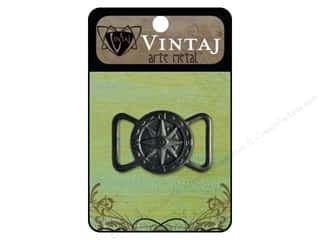 Clearance Blumenthal Favorite Findings: Vintaj Ribbon Slide Compass 26mm Arte Metal