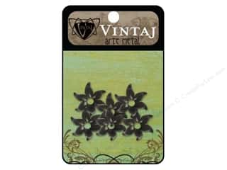 Vintaj Bead Cap Fairy Petal 12mm Arte Metal 6pc