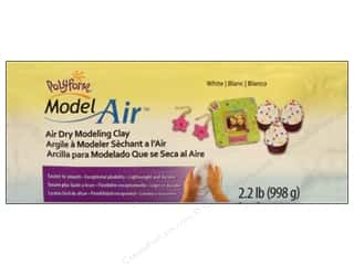 Clay & Modeling 1.75 lb: Polyform Model Clay Air Dry 2.2lb White
