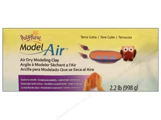 Polyform Model Clay Air Dry 2.2lb Terra Cotta