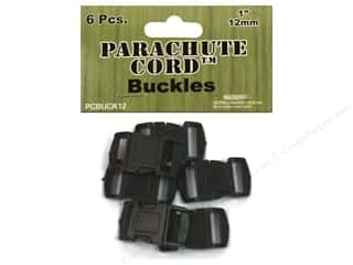Pepperell Braiding Co: Pepperell Parachute Cord Buckle 1/2 in. 6 pc.