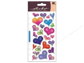 Valentines Day Gifts Stickers: EK Sticko Stickers Sparkle Hearts